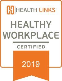 2019 Certified Healthy Workplace Badge