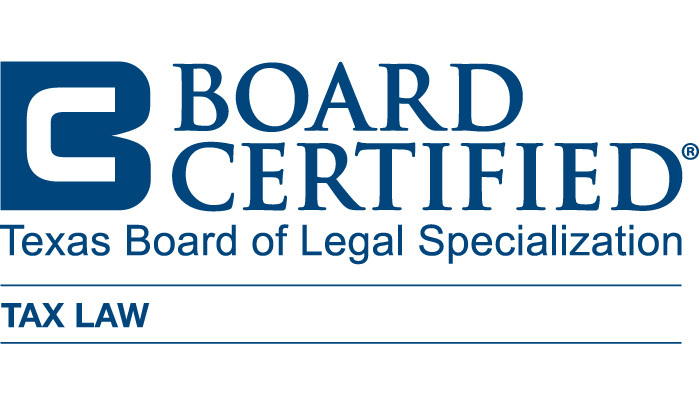TX Board of Legal Specialization - Board Certified - Tax Law