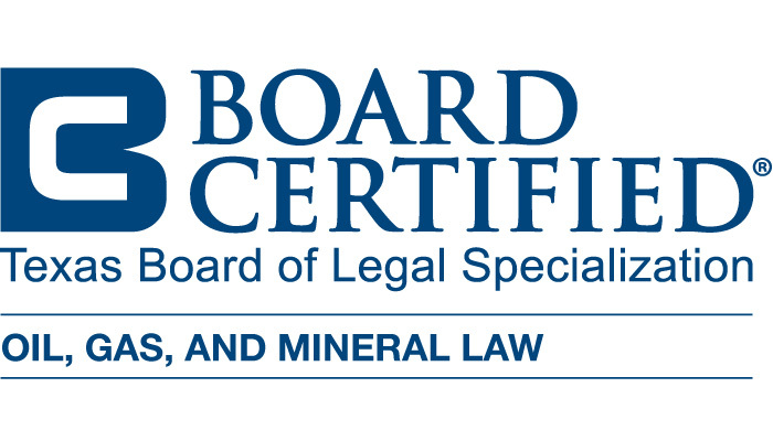 TX Board of Legal Specialization - Board Certified - Oil Gas Mineral Law